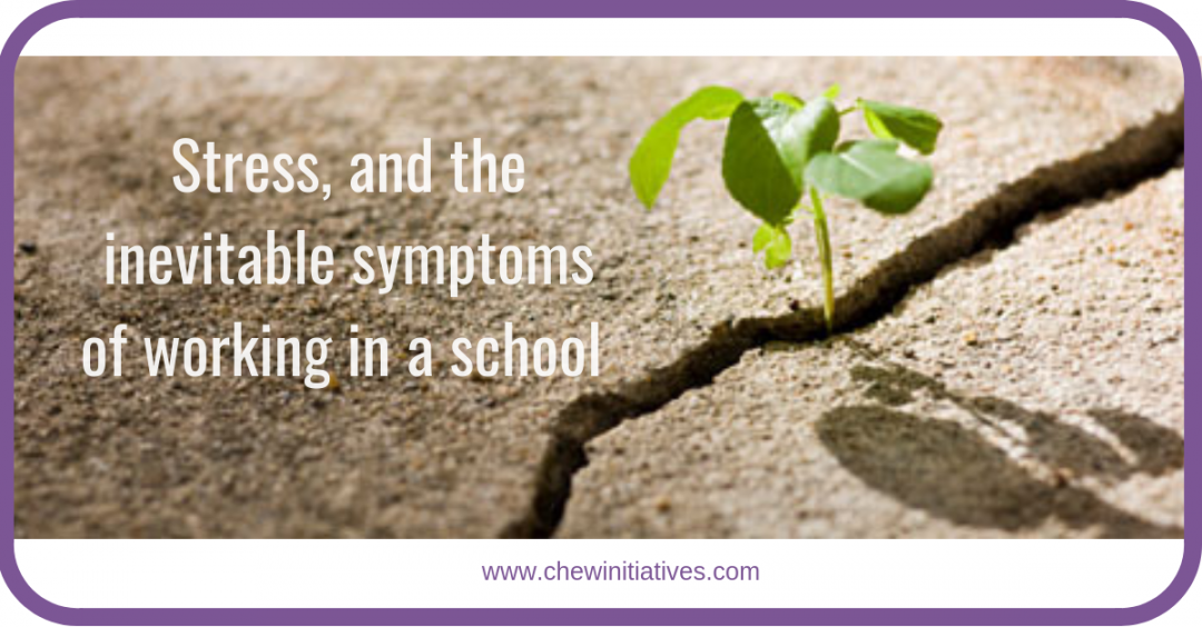Stress and inevitable symptoms of working in a school…?